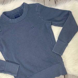 Converse Dark Blue Distressed Crew Neck Sweatshirt